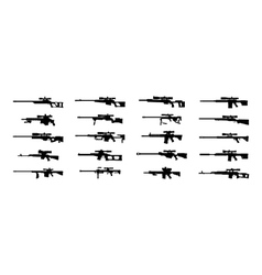 Sniper rifles vector