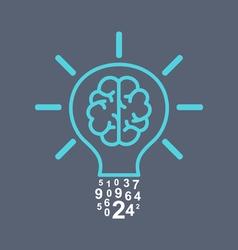 Light bulb brain vector image