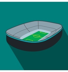 Oval footbal stadium flat icon vector