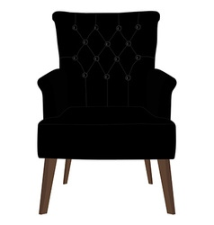 Modern black armchair vector