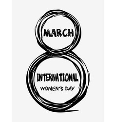 8th march - international womens day greeting vector
