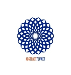 Abstract Flower Blue Mandala Icon over vector image