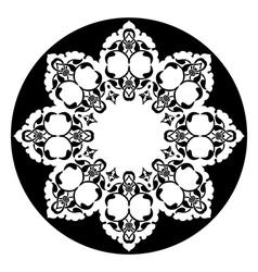 Antique ottoman turkish design eight vector