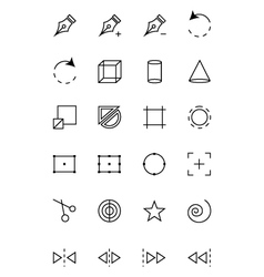 Art Design and Development Icons 3 vector image vector image
