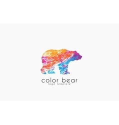 Bear logo Creative animal logo Colorful logo vector image vector image