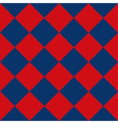Blue red chess board diamond background vector