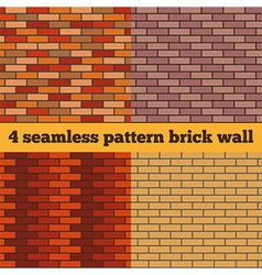 Brick wall set of seamless textures vector