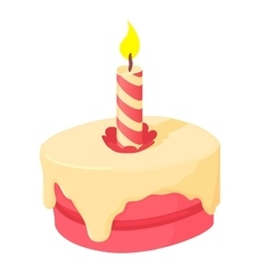 Cake icon cartoon style vector image vector image