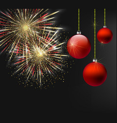 christmas and new year dark background with vector image vector image