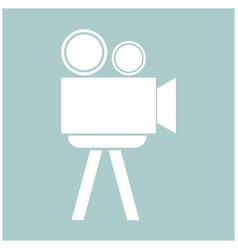 cinematograph the white color icon vector image
