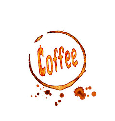 coffee icon with lettering vector image vector image