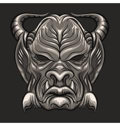 Demon mask vector