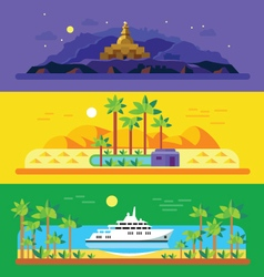 Different landscapes vector image
