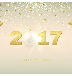 Elegant Happy New Year background vector image vector image