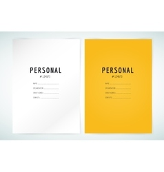 Form blank template Business folder paper and vector image vector image