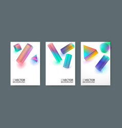 Geometric trendy background placard flat and 3d vector