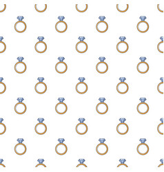 Gold ring with diamond pattern seamless vector