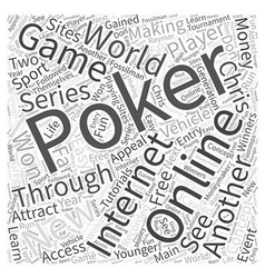 Internet online poker word cloud concept vector