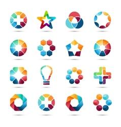 Logo templates set abstract circle creative signs vector