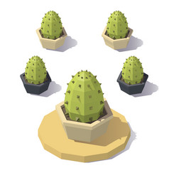 Low poly cactus vector