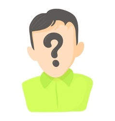 Man question icon cartoon style vector
