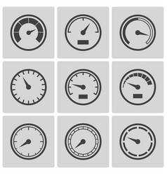 meter icons flat style set vector image vector image