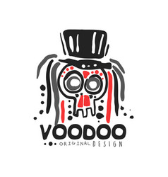 Original voodoo magic logo template design with vector
