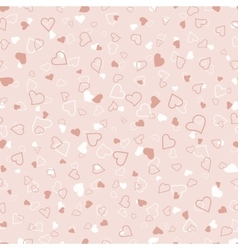 Pink and white hearts seamless pattern valentines vector image