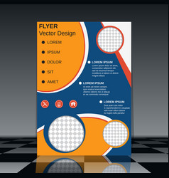 professional business flyer design vector image vector image