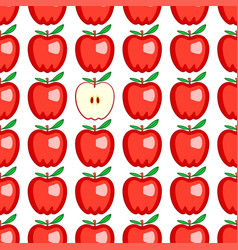 red apple seamless pattern vector image vector image