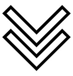 Shift down thin line icon vector