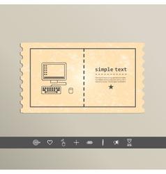 Simple stylish laptop pixel icon design vector image vector image