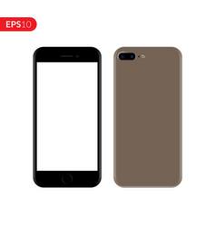 Smartphone mobile phone gold color mockup vector