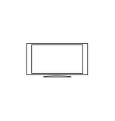 Tv monitor icon vector