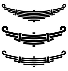 vehicle leaf spring black symbols vector image