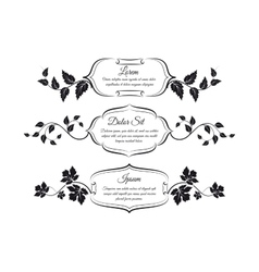 Vintage frames with floral elements vector image