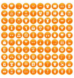 100 t-shirt icons set orange vector