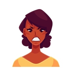 African girl face angry facial expression vector