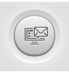 E-mail marketing icon grey button design vector