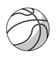 Basketball ball equipment - shadow vector