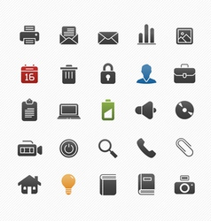 Generic symbol icon set vector