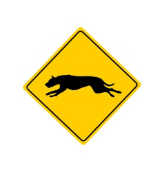 Dog warning sign vector