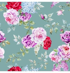Nice rose pattern vector