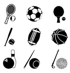 Sport items vector