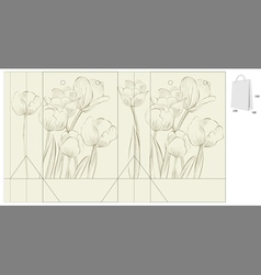 decorative bag with tulips flowers vector image