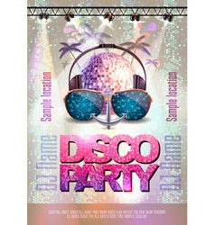 Disco backgroun disco party poster vector