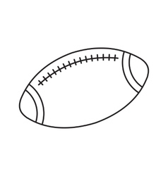 Rugby line icon vector