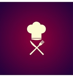 Chef hat with cutlery vector