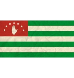 Abkhazia paper flag vector image vector image