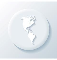 America 3D Paper Icon vector image vector image